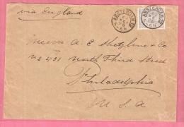 OMSLAG PWS AMSTERDAM > ENGELAND > PHILADELPHIA USA 21.5.1898 - 1891-1948 (Wilhelmine)