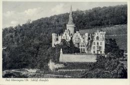 Germany BRD Picture Postcard Arenfels Castle In Bad Hönningen Posted 1956 - Bad Hoenningen
