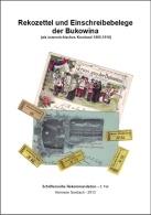 Rekozettel Und Einschreibebelege Der Bukowina 1886 Bis 1918 - Philatelie Und Postgeschichte