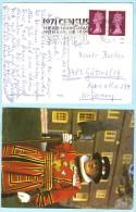 GB UK -  AK Postcard Brief Cover Lettre - Queen SST Slogan Census 1971 (26654) - 1952-.... (Elisabeth II.)