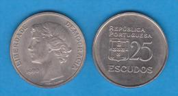 PORTUGAL  25 ESCUDOS 1.980  CU NI  KM#610  SC/UNC   T-DL-10.660 - Portugal