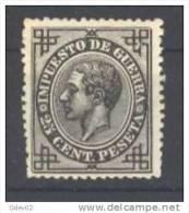 ES185-L3275.España.Spain. Espagne..ALFONSO  Xlll .IMPUESTOS DE GUERRA.1876.(Ed 185) Sin Goma.MAGNIFICO - Nuevos