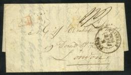 1835 ENTIRE LETTER PARIS To LONDON - Bureau Central - Postmark Collection (Covers)