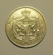 Roumanie Romania Rumänien 5 Lei 1883 Argent / Silver  # 14 - Roumanie