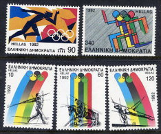 GREECE 1992 Barcelona Olympic Games  Set Of 5 MNH / **.  Michel 1792-96 - Unused Stamps