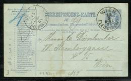 1884 - WIEN 10Kr Pneumatische Post Express Ganzsache - Fleischmarkt - Ganzsachen