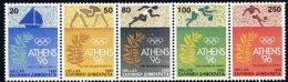 GREECE 1990 Athens 1996 Olympic Bid Strip Of 5 MNH / **.  Michel 1764-68 - Greece