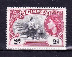 ST HELENA  1953, Queen E II - Landscapes     Y&T   #   125 - 2  D   , Cv  1.00 E ,     * MH , V V F - Isola Di Sant'Elena