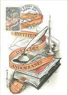 CM Andorre - 1977 - Institut D'Etudes Andorranes - Cartes-Maximum (CM)