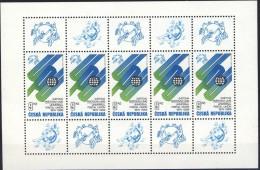 ##Czech Republic 1999 [99].UPU. Sheetlet. Michel 224. MNH(**) - Blocks & Sheetlets