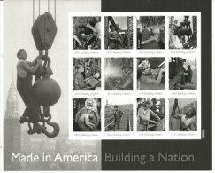 USA.Building A Nation (les Travailleurs Du 20 Ième Siècle) Photos De Lewis Hine.  12 T-p Neufs ** Adhésifs En Feuille. - Fogli Completi