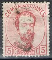Sello 5 Cts Amadeo 1872, Variedad,  Num 118b º - 1872-73 Reino: Amadeo I