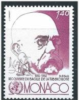 MONACO - 1982 - R. Koch   Mi. 1537 Serie Cpl. 1v.. Nuovi**  Perfetti                 . - Non Classés
