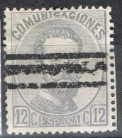 Sello 12 Cts Amadeo 1872, Variedad Color Barrado,  Num 122 As º - 1872-73 Reino: Amadeo I