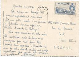 Gibraltar 1960 Coaling Wharf Harbour Viewcard To France - Gibraltar