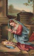 La S. Vierge Adorant Le Fils.  Corregio     S-680 - Jesus