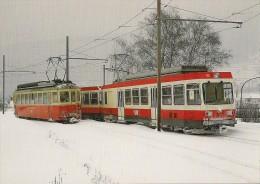 CPM Train à Voie étroite WALDENBURGERBAHN (SUISSE)  Automotrices En 1986 Détails Sur Le 2ème Scan - Trains
