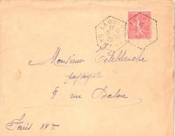 2525 LAQUINTE Sarthe Lettre 50 C Semeuse Yv 199 Ob 31 12 29  Hexagone Pointillé Agence Postale Lautier F4 - Postmark Collection (Covers)