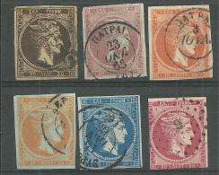 La Grèce Oblitérérs Non-dentelé HERMES 1861 - Usati