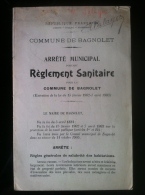 93 Bagnolet Arrêté Municipal Du 29 Octobre 1905 Portant Règlement Sanitaire - Livres, BD, Revues