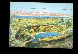 Environs Du Lac De JOUX Carte Géographique Dessinée - VD Vaud