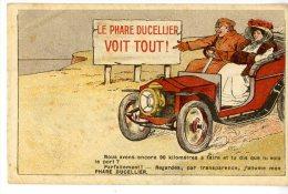 AUTOMOBILE  LE PHARE DUCELIER VOIT TOUT  -  CARTE A SYSTEME  COCHON  -  TRES BELLE ILLUSTRATION - Toerisme