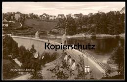 ALTE POSTKARTE REICHENBERG TALSPERRE LIBEREC Water Dam Barrage Böhmen Romani Sudeten Tschechien Ceska Republica Cpa AK - Sudeten