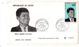 - Oblitération Premier Jour NIAMEY 1968, Kennedy - 926 - Niger (1960-...)