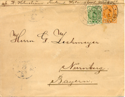 1892 Entier De Helsinki Vers Allemagne, Avec Timbre Complementaire. Voir 2 Scan - Finlandia