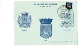 - Oblitération Premier Jour GUERET , 25 Janvier 64 - 927 - Frankrijk