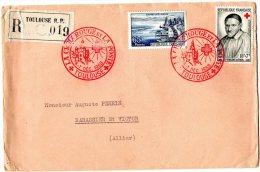 - Oblitération CROIX-ROUGE à TOULOUSE, 6-7 Décembre 1958 - 928 - Frankrijk