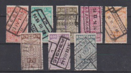 BELGIQUE ; Lot De Timbres   // Chemins De Fer // - 1923-1941