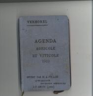 Agenda Agricole Et Viticole VERMOREL 1910 - Giardinaggio