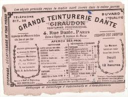 Buvard Grande Teinturerie Dante Giraudon 4 Rue Dante Paris - Buvards, Protège-cahiers Illustrés