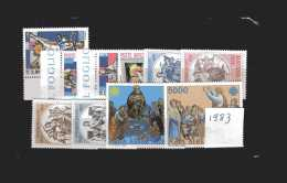 Vaticano **-x- 1983 - Annata Completa. 10 Valori . Senza  BF..  MNH - Annate Complete