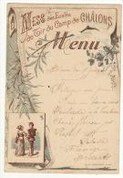 Menu Mess Des Ecoles De Tir Du Camp De Châlons 1910 Militaire Militaria - Menus