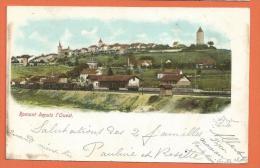 HC833, Romont Depuis L'ouest, Précurseur, Circulée 1905 - FR Fribourg