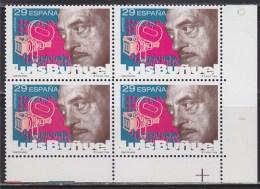 = Le Cinéma Espagnol, Bloc 4 Timbres Luis Bunuel, Neufs - 1931-Today: 2nd Rep - ... Juan Carlos I