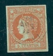 Spain 1860 4 Cu. Cuenca Landete  Used - 1850-68 Kingdom: Isabella II