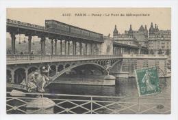 PARIS - Passy  - Le Pont Du Métropolitain -  - Oblitération  PARIS / GARE DU NORD 12-09-09 - Metro, Estaciones