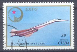 Cuba Expo Sciences Et Technique URSS 75 Tupolev Oblitéré ° - Cuba