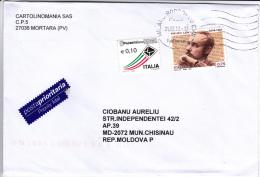 Italy  To  Moldova ; Used Cover - 6. 1946-.. Repubblica
