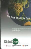 GlobalOne - Globe, Now Your World Is One. 10.97 - Frankreich