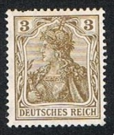 Mi. 54 3 Pf. Lot 8 Pieces: 5 Mint And 3 Hinged - Alemania