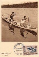 - Oblitération Premier Jour, 1953 à PARIS  - Canoë - 931 - France