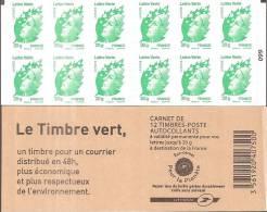 """CARNET 604-C 1a Marianne De Beaujard """"LE TIMBRE VERT"""" Avec Double Carré Noir Sur N° 099. A LA FACIALE, A SAISIR. - Carnets"""