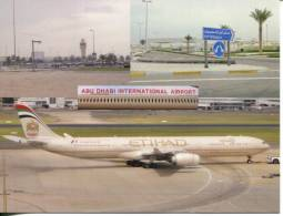 United Arab Emirates  - Abu Dhabi International Airport & Ethihad Aircraft - Aerodrome