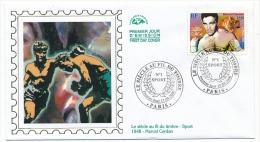 FRANCE - FDC - Marcel CERDAN - Siècle Au Fil Du Timbre 2000 - Paris - - Boxen