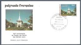 POLYNESIE FRANCAISE FDC Du 455 YT 150 Ans De L´Eglise Des Saints Des Derniers Jours EPJ 1994 - FDC