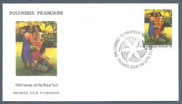 POLYNESIE FRANCAISE FDC Du 474 YT Année Du Tourisme EPJ 1995 - FDC